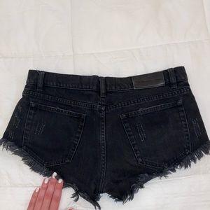 the Kooples black denim shorts
